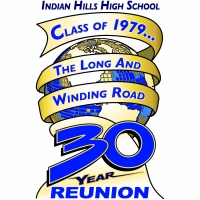 Thanks to Eric & Jill Medhus (Lisa Raebel's husband & daughter) for designing this beautiful logo for our Reunion.